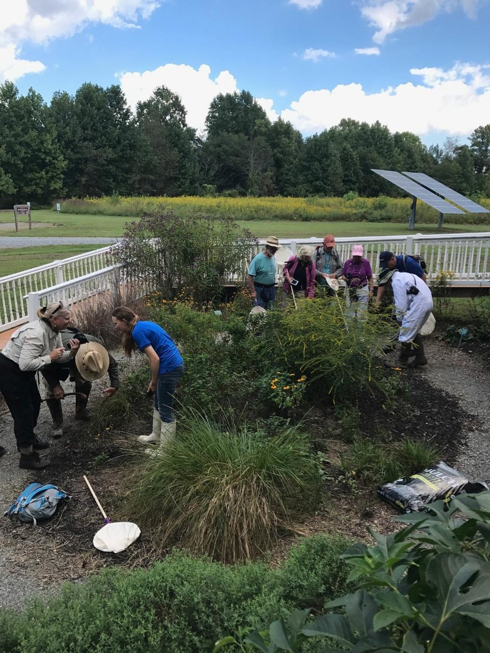 Gardening at Wilna Tract during 2017 Basic Training by Arlene Crabbe