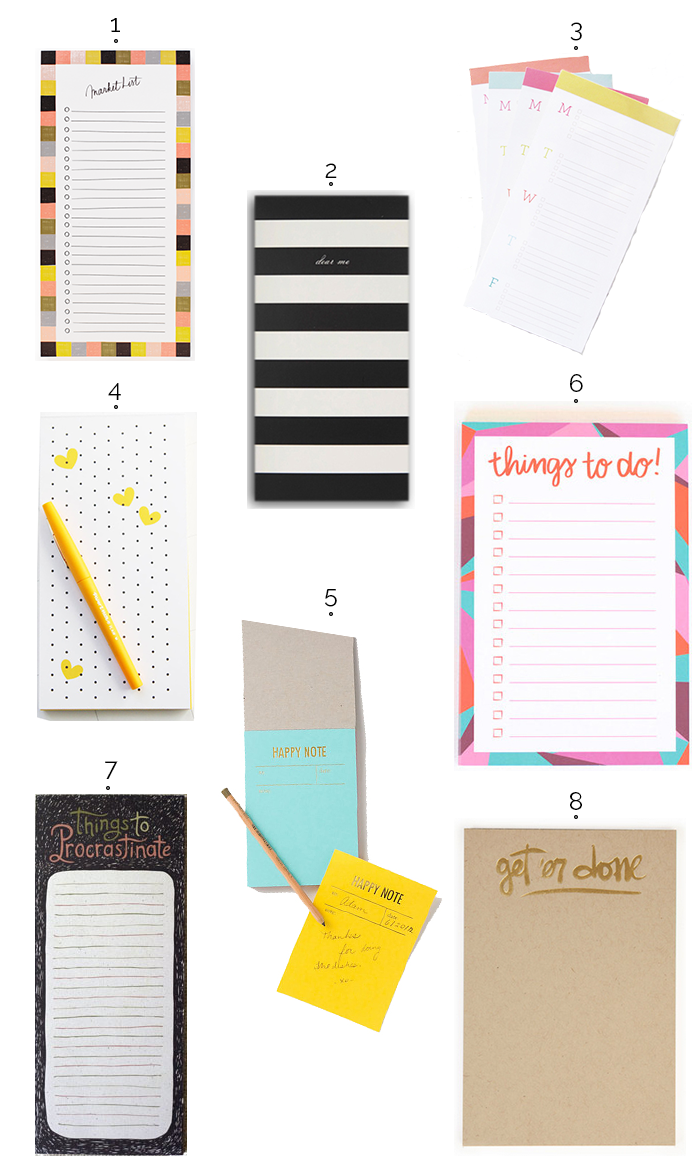 Notepad round up on dotted design
