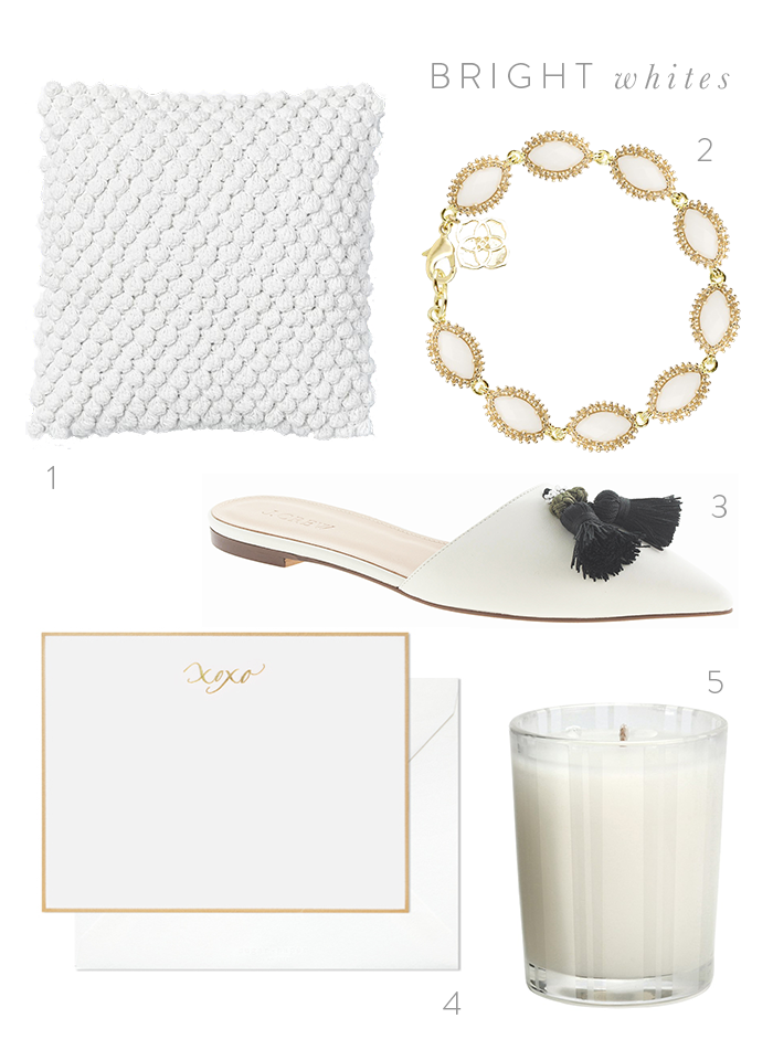 bright whites | dotted design
