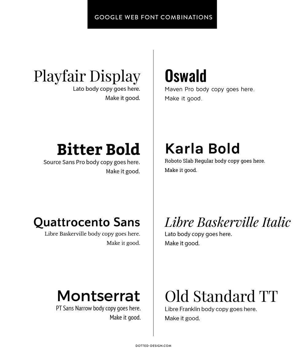 google font combinations