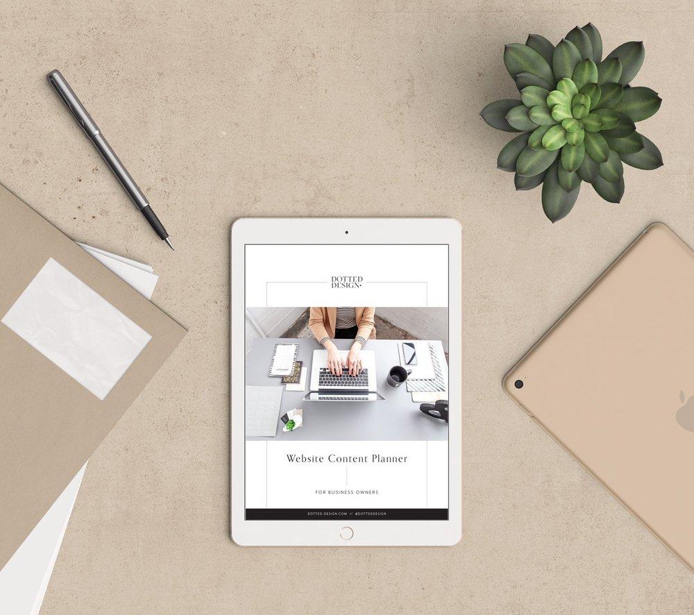 dotted design free download website planner
