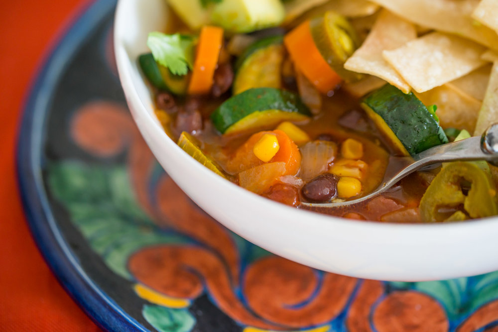 Mixed And Measured | Vegetarian Food Blog by Riley Yahr | Tortilla Soup