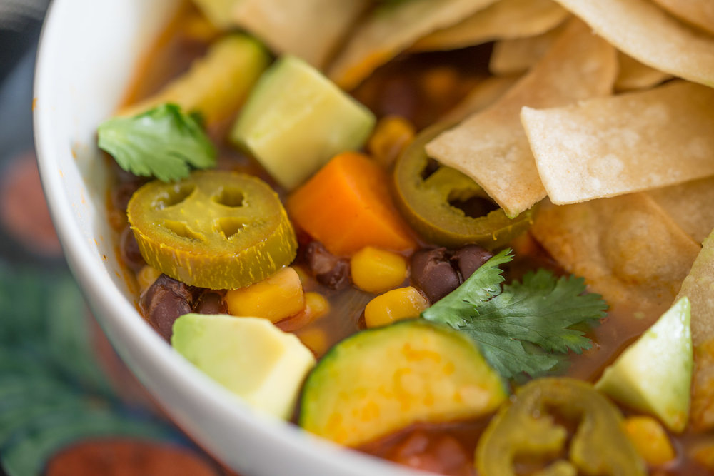 Mixed And Measured Tortilla Soup