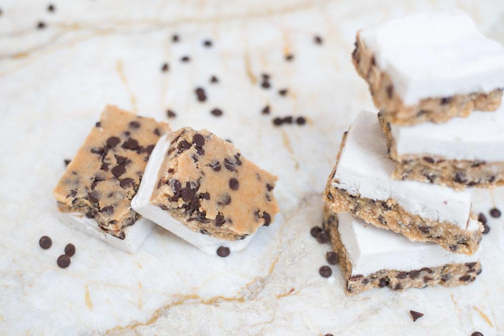 Mixed & Measured | Vegan Chocolate Chip Espresso Cookie Dough Bars