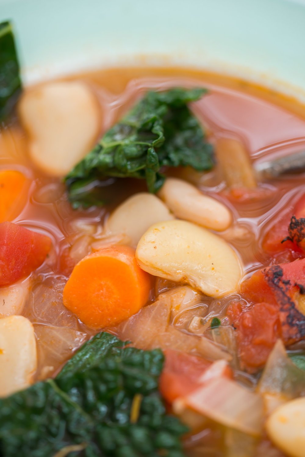 Mixed & Measured | White Bean Kale & Chard Soup