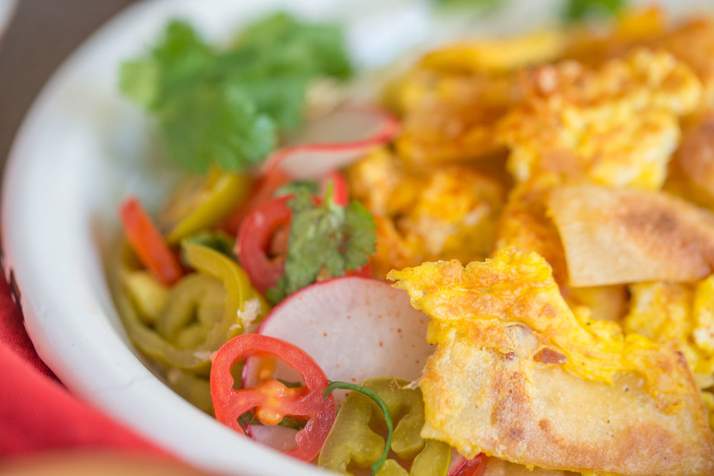 Mixed & Measured | Tortilla & Egg Scramble/Chilaquiles