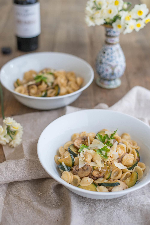 Mixed & Measured | Mushroom & Zucchini Marsala Pasta