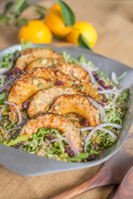 Mixed & Measured | Parmesan Crusted Acorn Squash