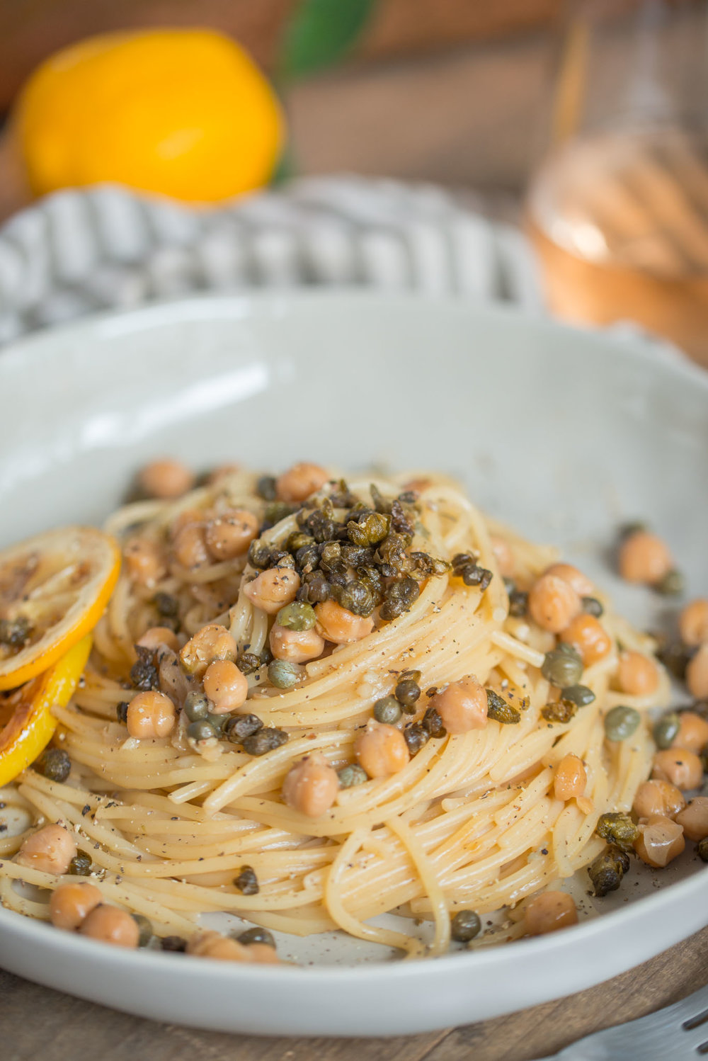 Mixed & Measured | Pasta With Crispy Capers Chickpeas Lemon-5.jpg
