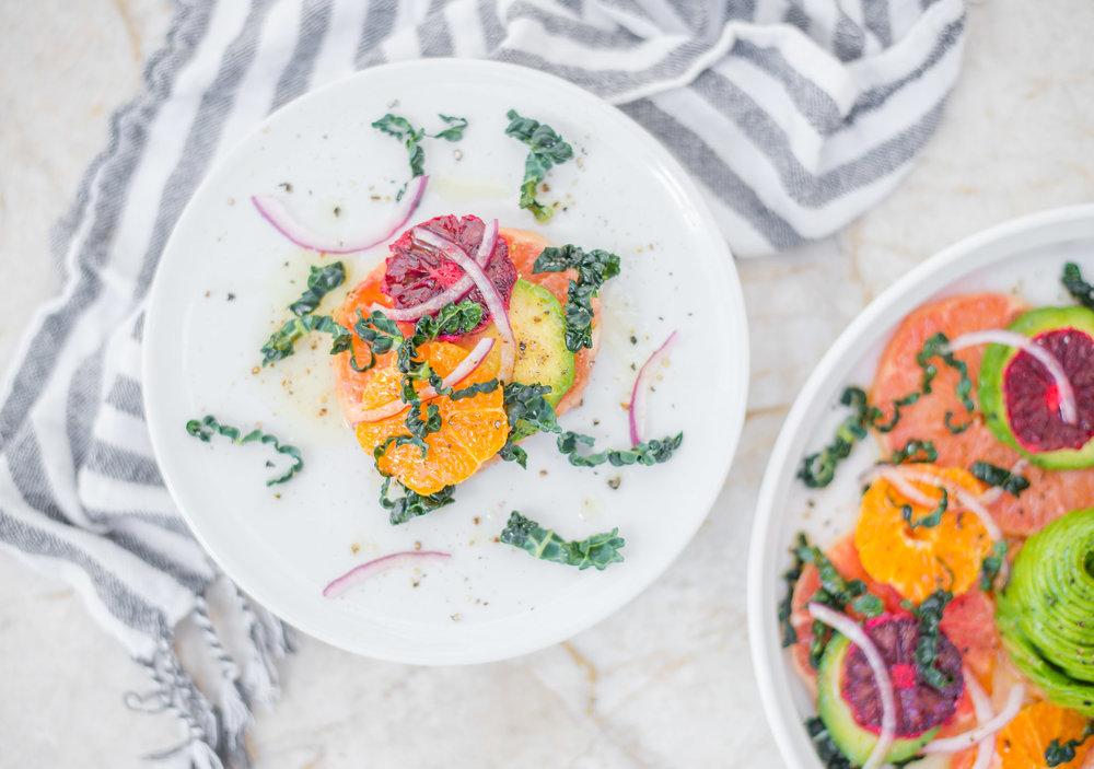 Mixed & Measured   Citrus Avocado Salad
