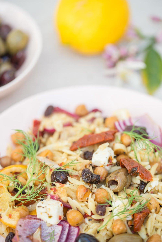 Mixed & Measured | Mediterranean Orzo Salad
