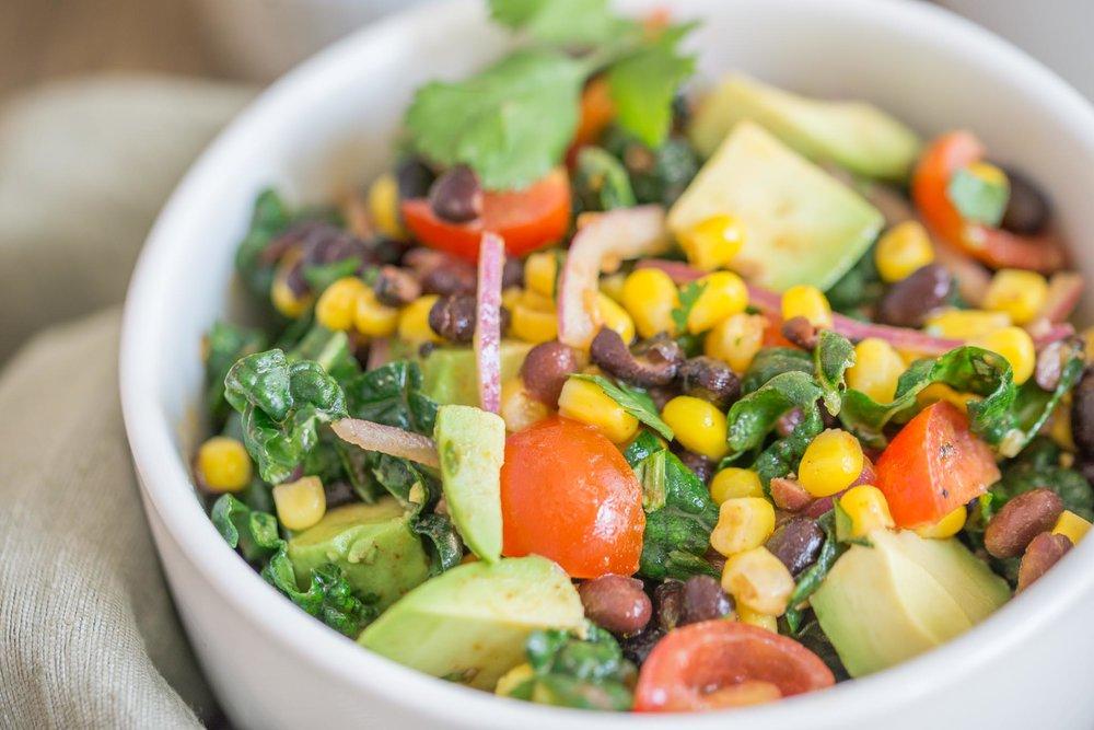 Mixed & Measured | Corn Bean Kale Salad