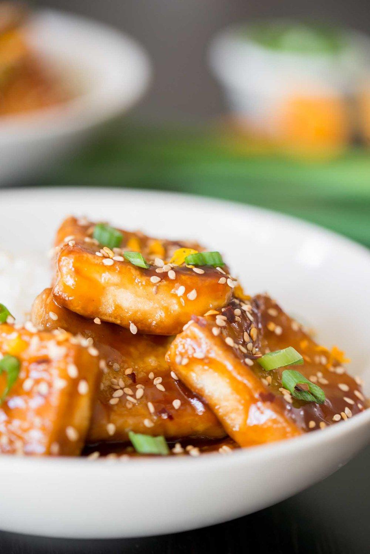 Mixed & Measured   Crispy Tofu with Sticky Tangerine Sauce