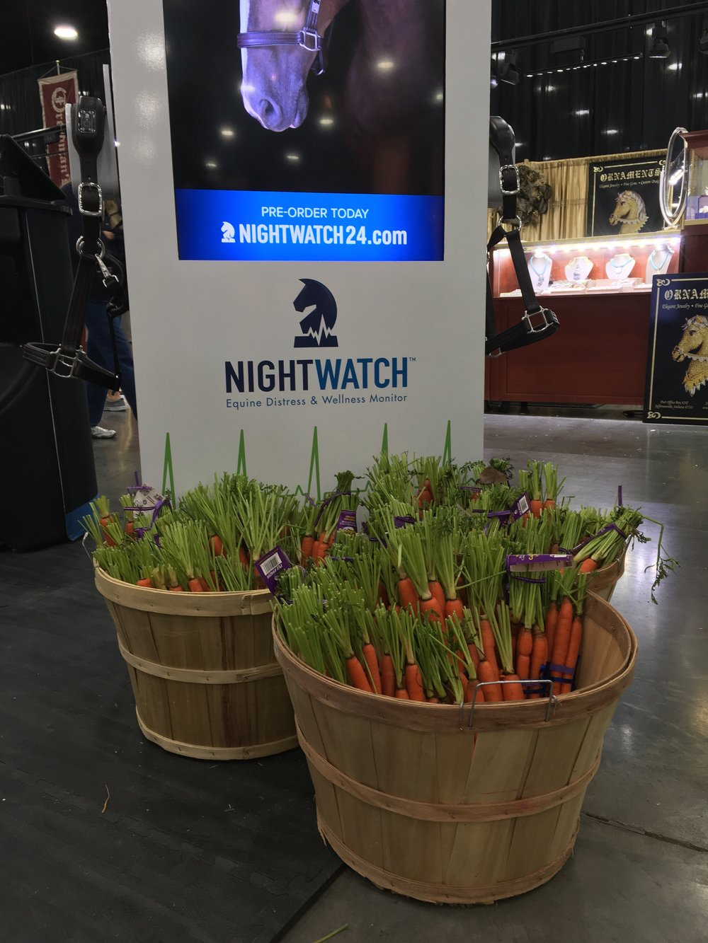 Our NIGHTWATCH® handed out carrots to competitors and their horses at the World's Championship Horse Show in Louisville, Kentucky.