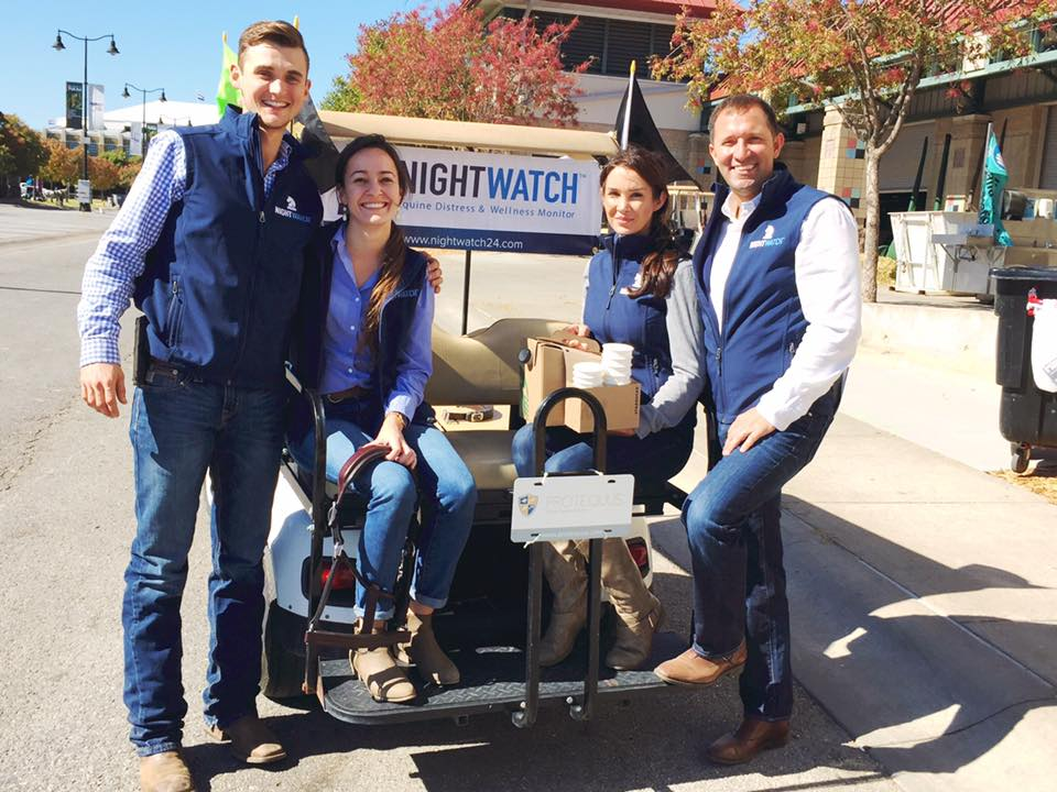 Special coffee delivery by the NIGHTWATCH® team (and special guest Hews Oldham) at the 2016 U.S. National Arabian & Half-Arabian Championship Horse Show in Tulsa, Oklahoma.