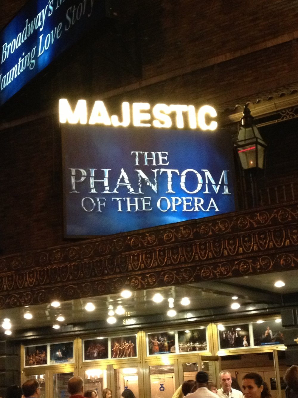 Phantom of the Opera on Broadway was a fantastic show!! It's the longest running show in Broadway history! Celebrated 25 years this year!