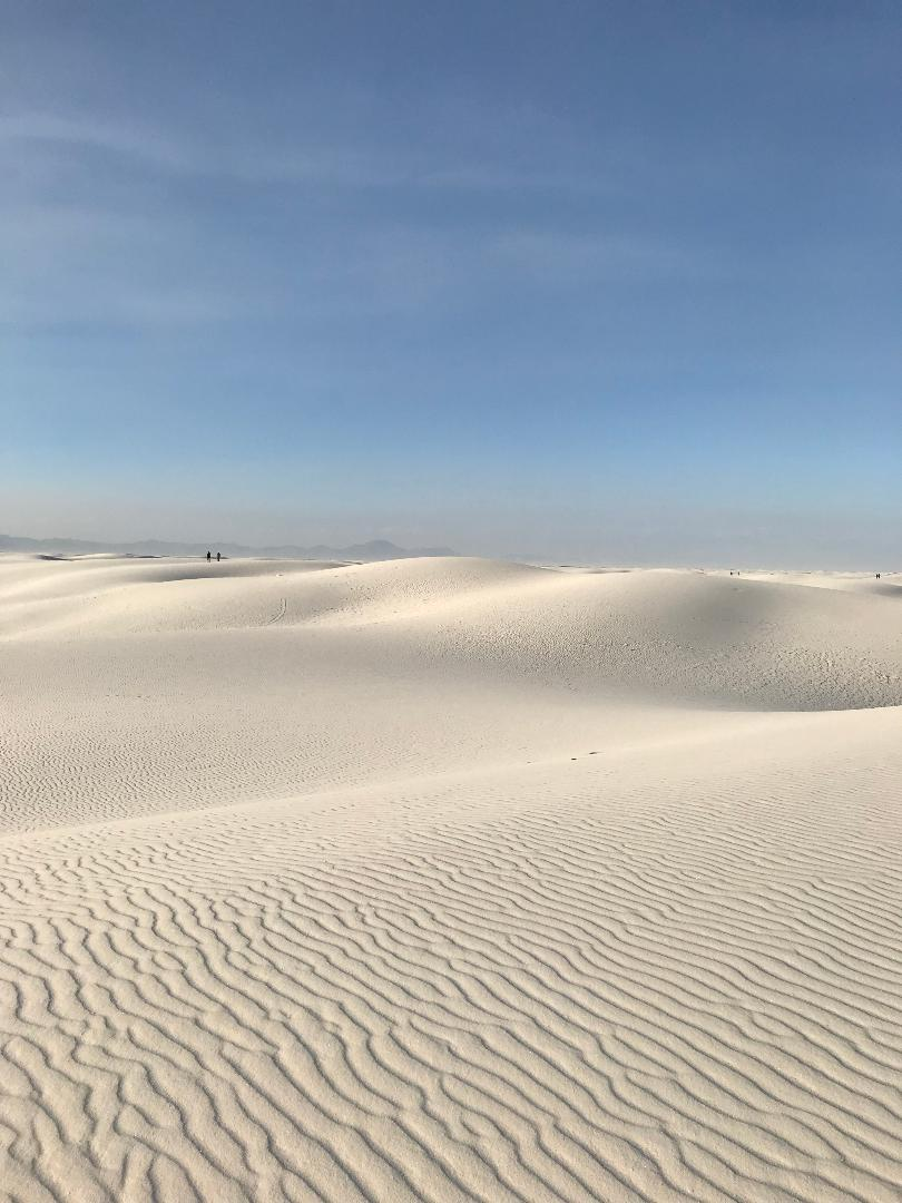 Miles and miles of white sand