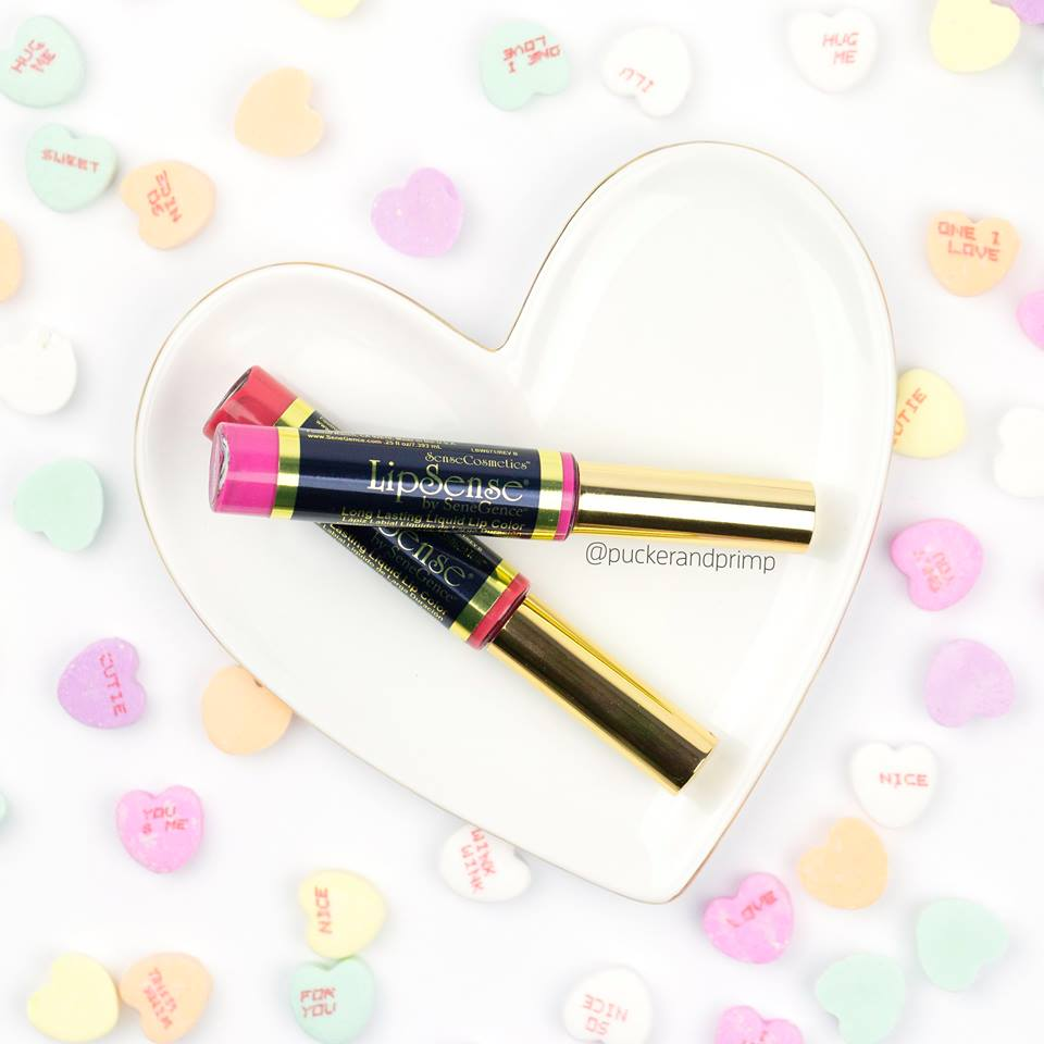 $55 PACKAGE 1 LIPSENSE LIP COLOR, GLOSSY GLOSS, AND REMOVER PACKAGED IN A NICE BOX WITH CARD AND SAMPLES AND PAIR OF EARRINGS -