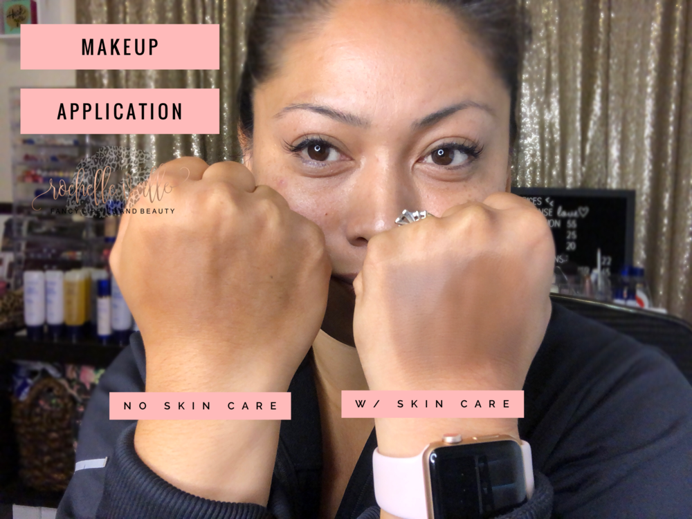 Makeup Application with SeneGence Skin Care VS No Skin Care