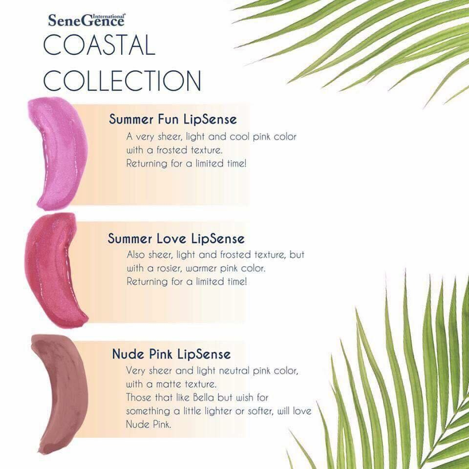 Coastal Collection  Summer Fun LipSense Summer Love LipSense and  New Nude Pink LipSense