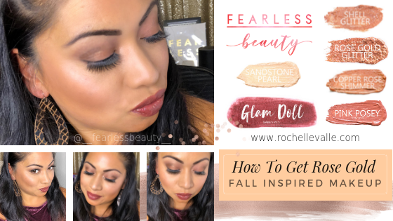 HOW TO GET ROSE GOLD FALL INSPIRED MAKEUP ROCHELLE VALLE