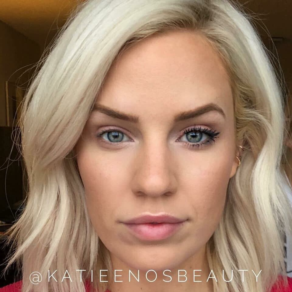 Katie Enos VolumeIntense Mascara Before and After