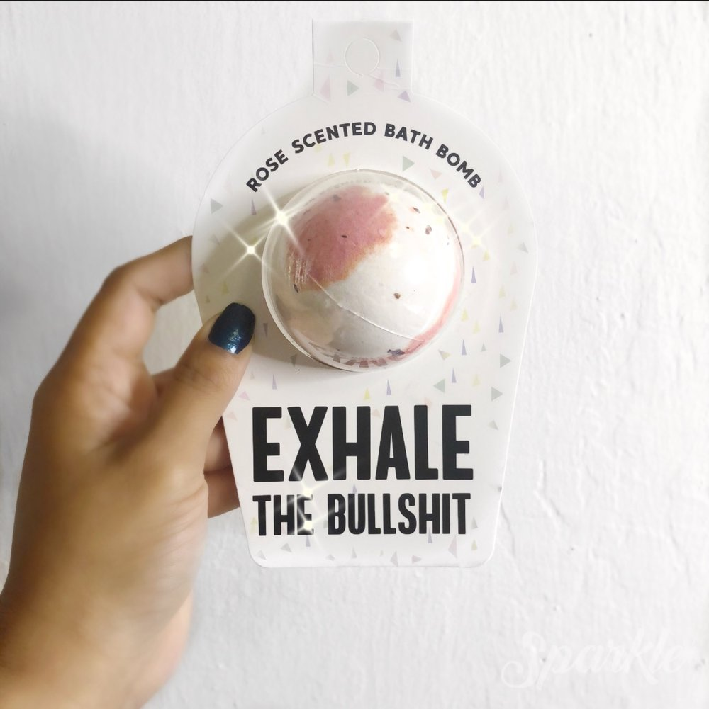 Exhale the Bullshit Bath Bomb Free Gift with Purchase