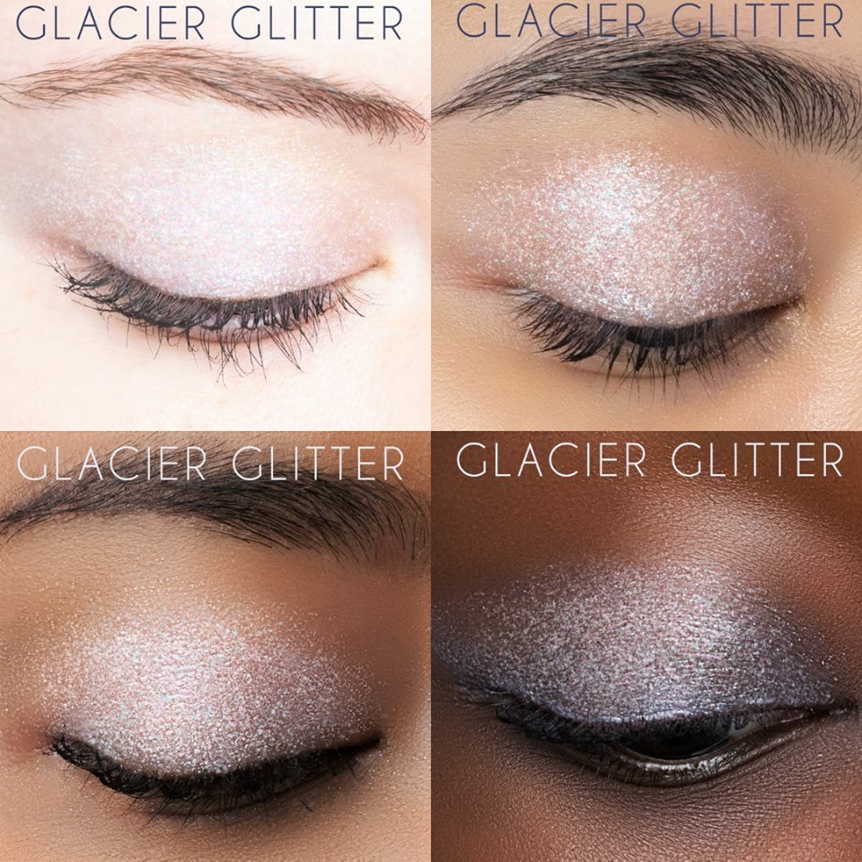Glacier Glitter - A sheer, shimmering white with multi-colored glitter