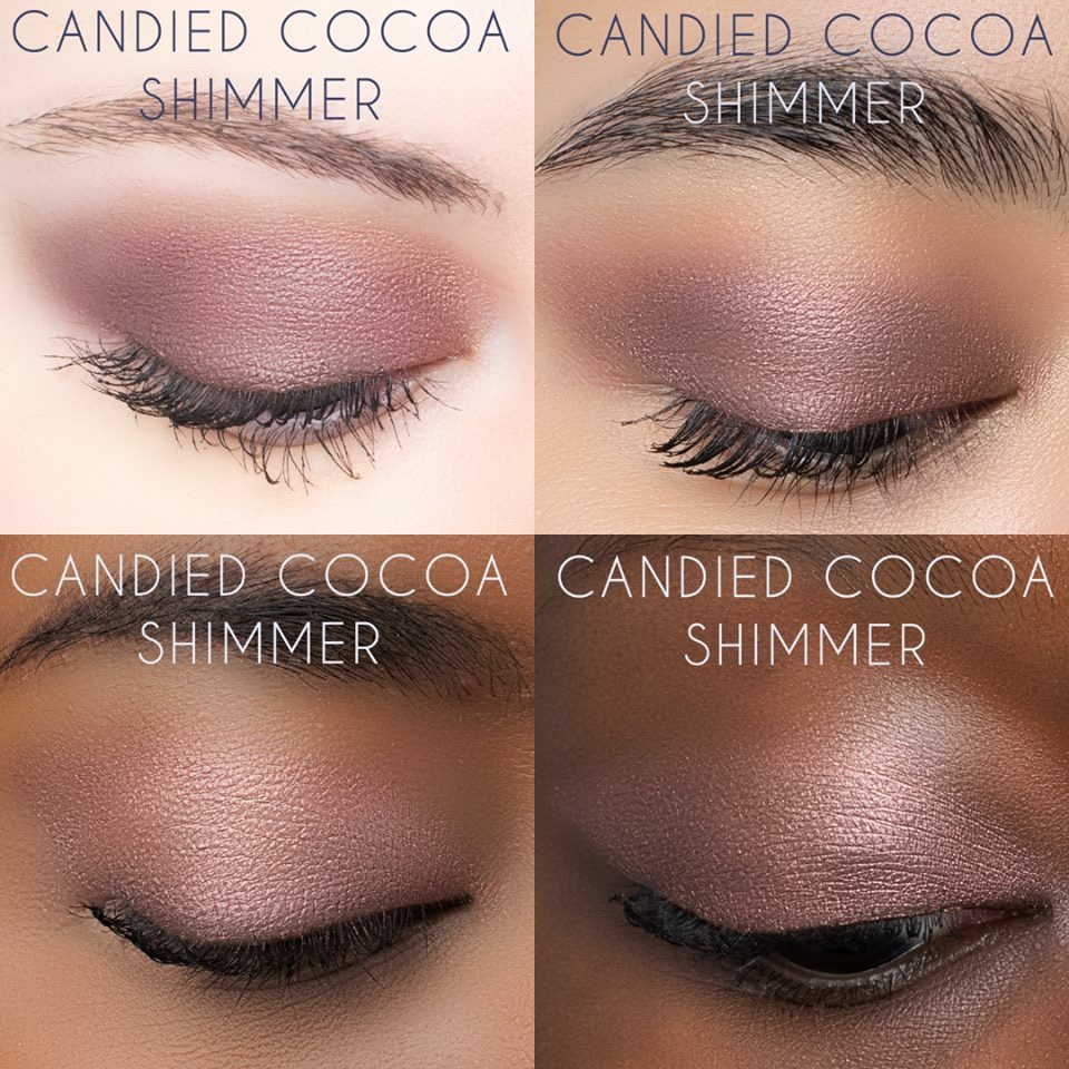 Candied Cocoa Shimmer - A frosted milk chocolate with red and mauve pearl