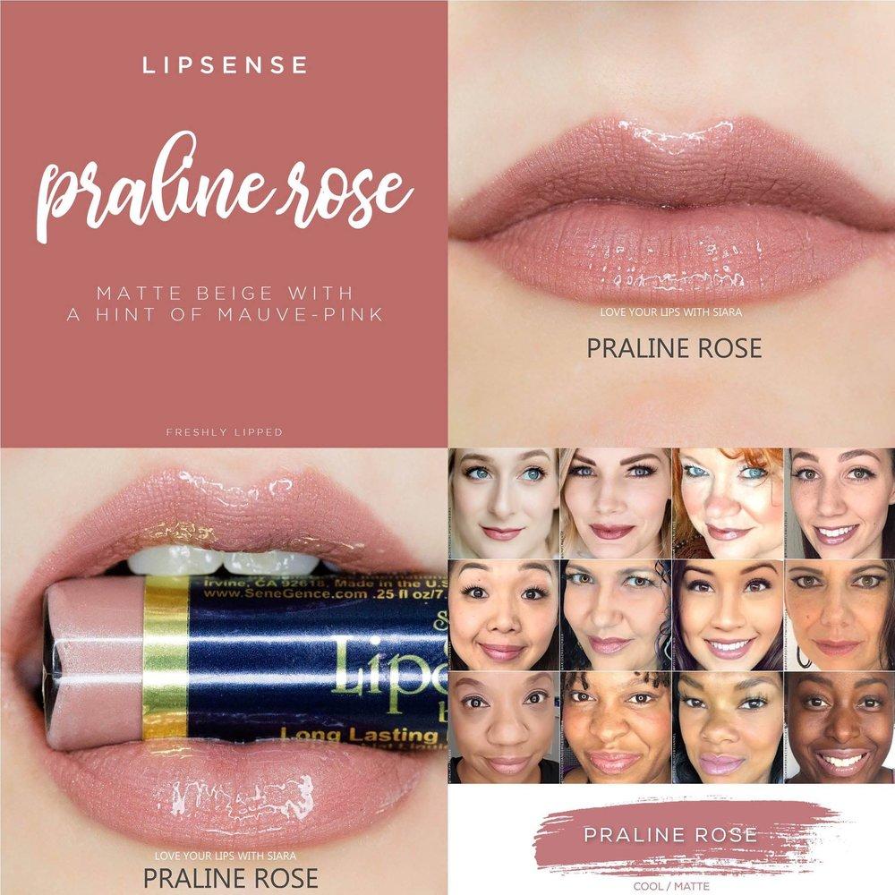 Praline Rose LipSense Collage