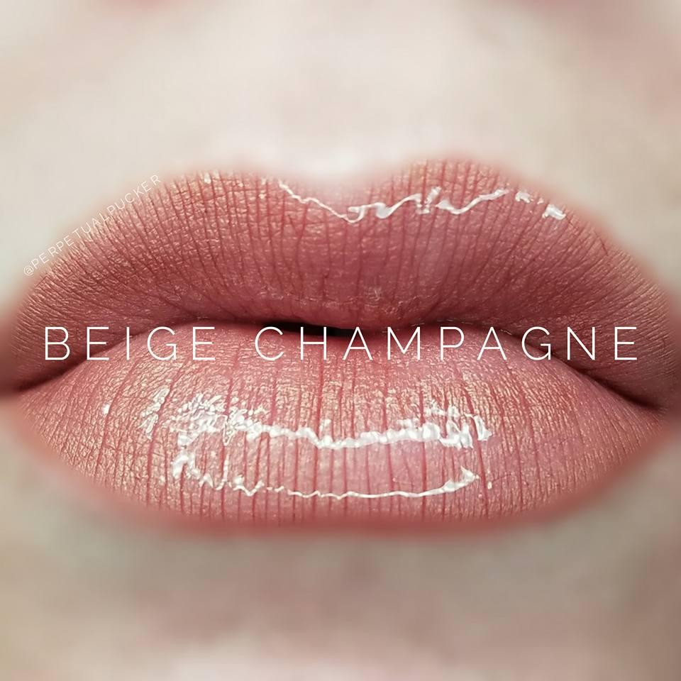 Beige Champagne LipSense with Glossy Gloss