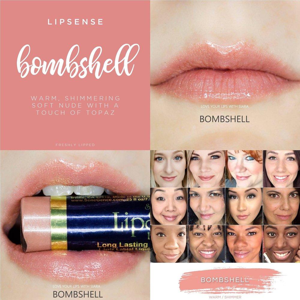 Bombshell LipSense Collage