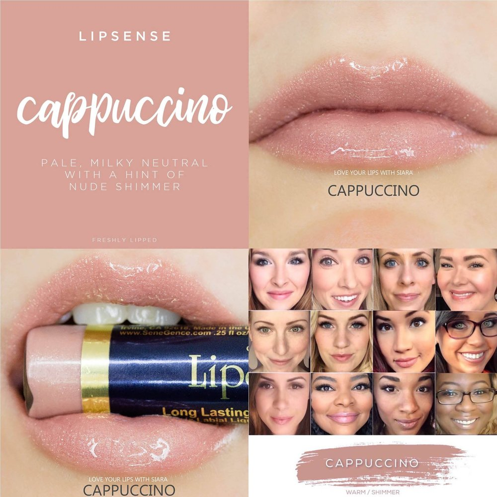 Cappuccino LipSense Collage
