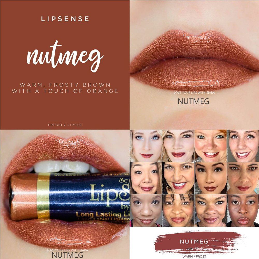 Nutmeg LipSense Collage