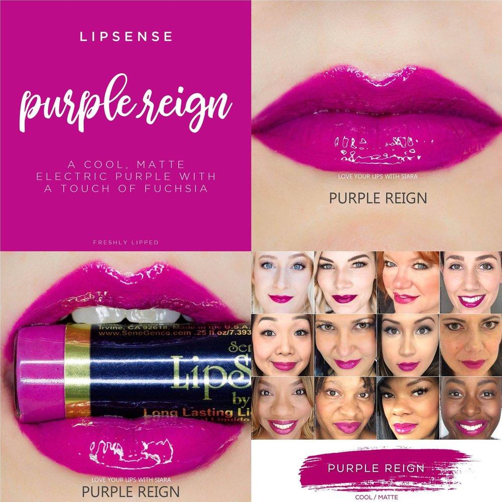 Purple Reign LipSense Collage