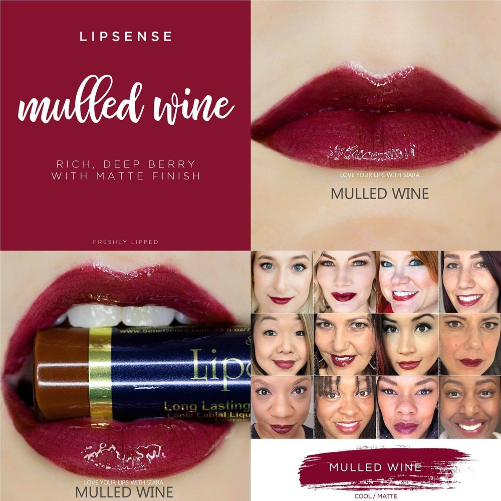 Mulled Wine LipSense Collage
