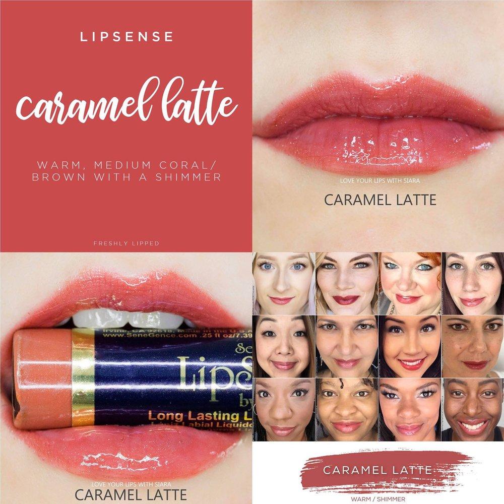 Caramel Latte LipSense Collage