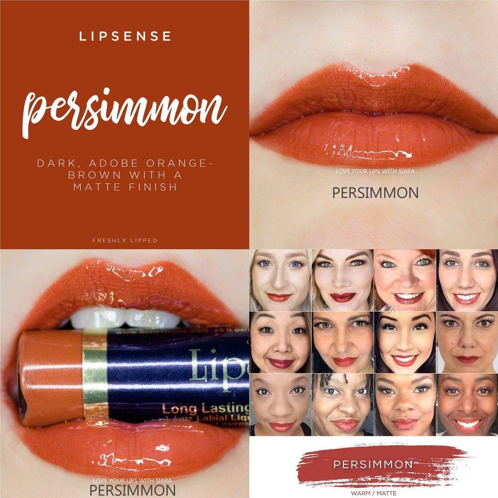 Persimmon LipSense Collage