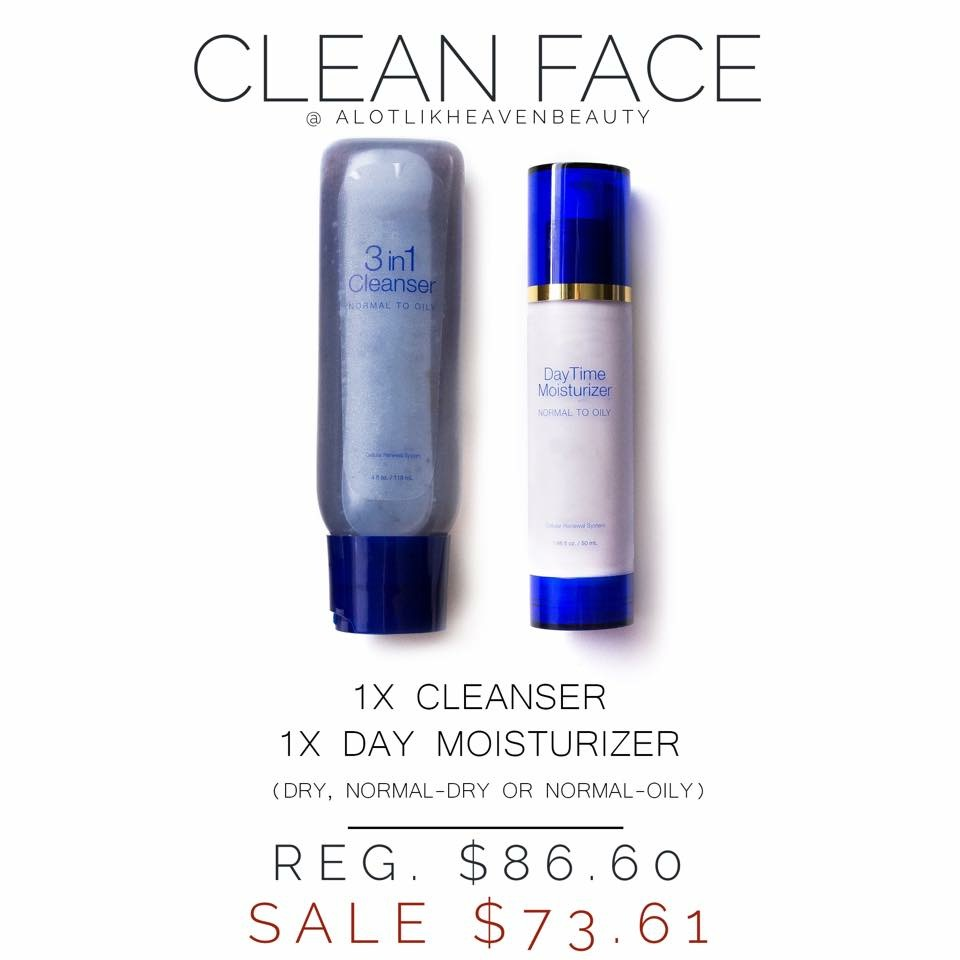 SeneGence Cleanser and DayTime Moisturizer