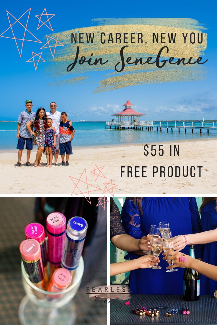 SeneGence January New Distributor Program $55 credit - Fearless Beauty