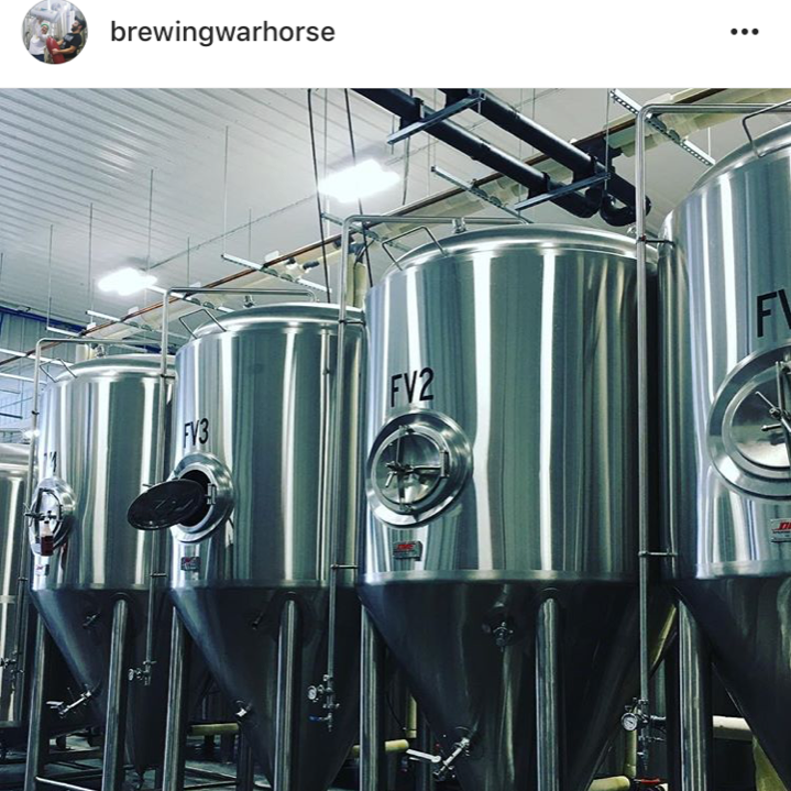 We brew on a 15 barrel system which produces roughly 465 gallons/30 1/2 kegs worth of beer at a time.  We have 7- 30 barrel fermentation vessels that allow us to double batch if needed.