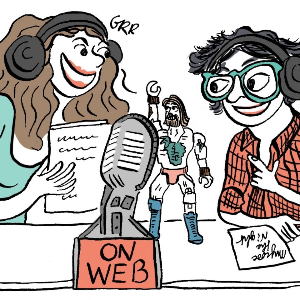 MYCOSE THE NIGHT   Un podcast de Arte Radio, présenté par Elodie Font,Klaire fait Grr, et Jean-Jacques le robot, qui discutent sur tout et beaucoup sur n'importe quoi. Pas mal d'infos et de blagues douteuses et drôles.