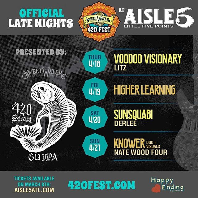 See y'all Friday 4/19 at @aisle5_atl after 420 Fest! @420fest