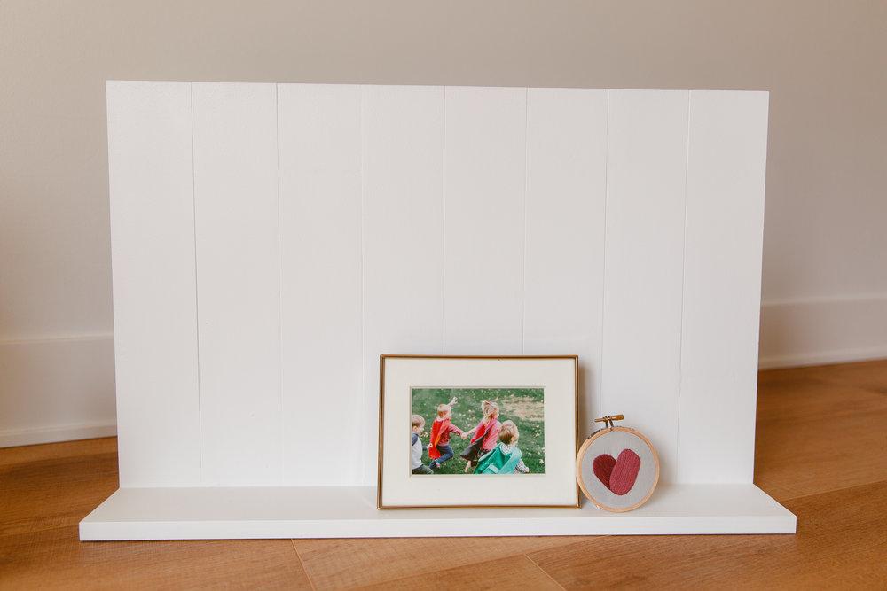 The Shiplap Shelf $80 - Vertical shiplap decorative shelf