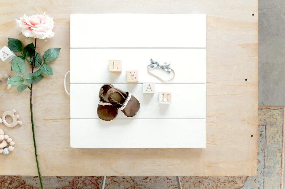 Mini Shiplap Board $65 - Colors include: white, black, dusty blue, blush, gray (textured)Dimensions: 18