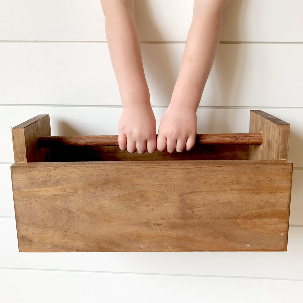 Heirloom Toolbox $40 - Perfect for your mini builder; durable just like Dad's