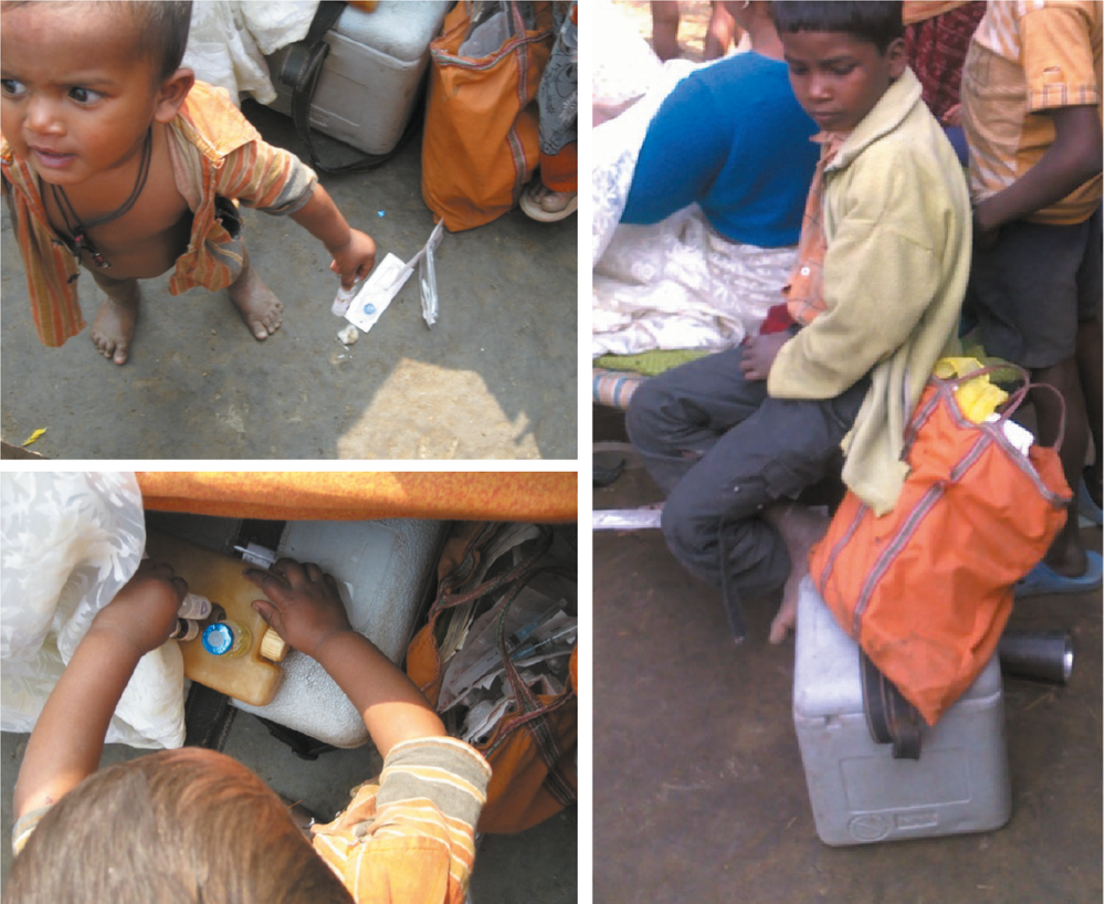 Common Problems - The biggest problem the ANM faces is an inability to organise her work-space. The lead to multiple smaller problems such as beneficiaries, particularly children accessing vials of medicine and syringes, inability to follow best practices, loss of inventory, etc.