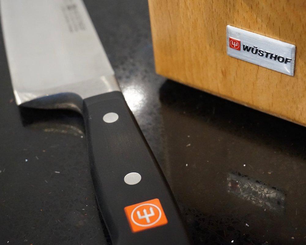 Wusthof knives in kitchen studio