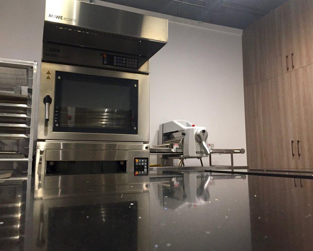 Miwe oven in kitchen studio