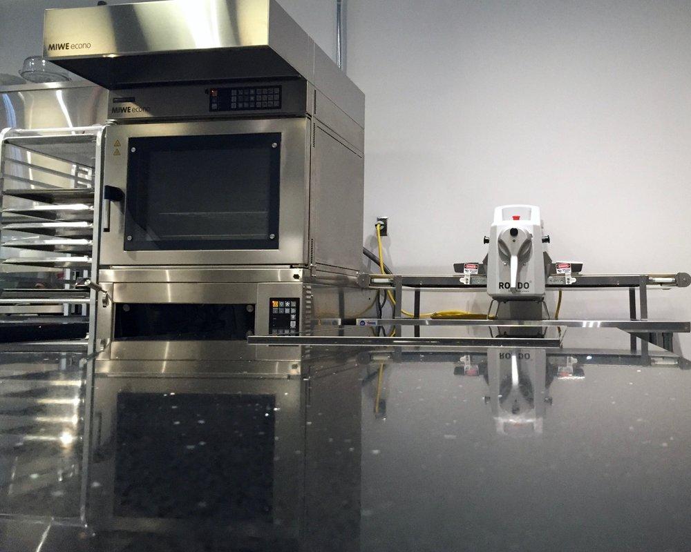 Clean workspace in kitchen studio